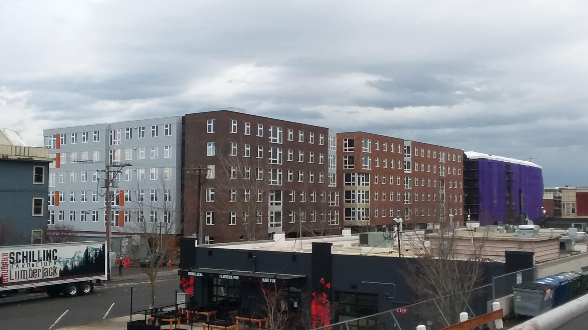 Four Buildings Under Construction at Stateside Apartments