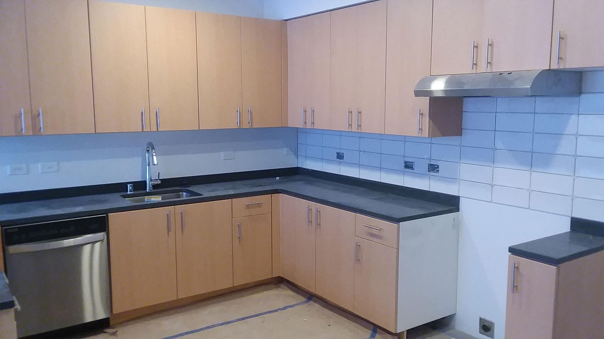 Halfway Built Kitchen at Stateside Apartments