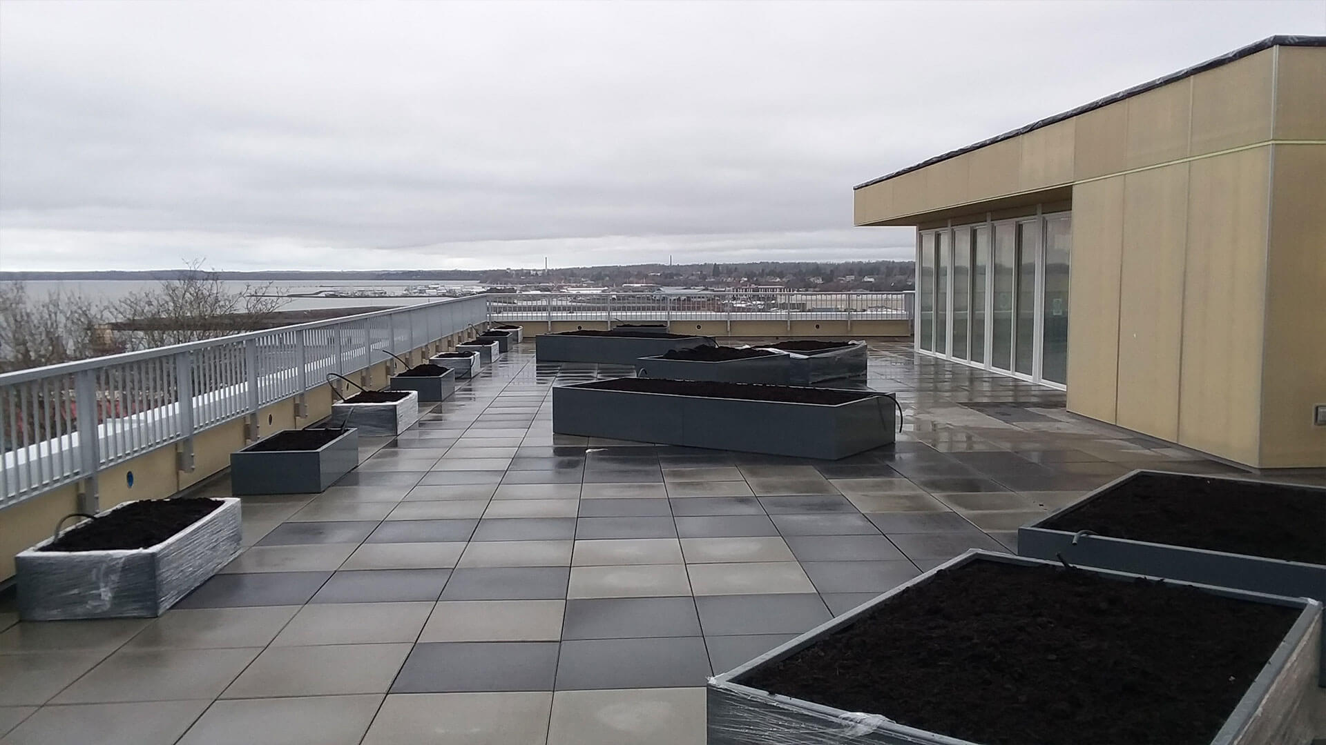 Roof of a Building at Stateside Apartments