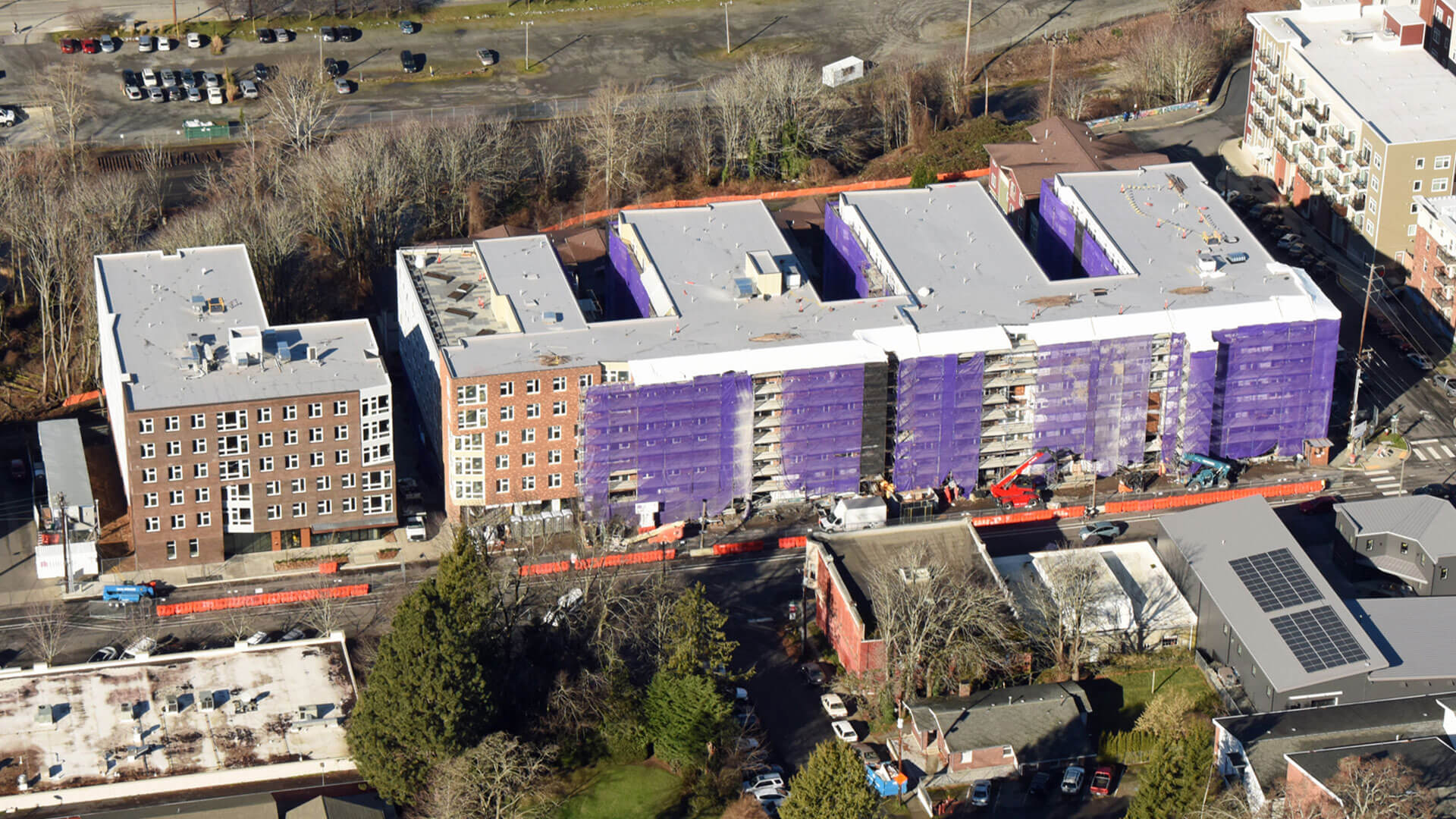 Birds-Eye View of Stateside Apartments Under Construction