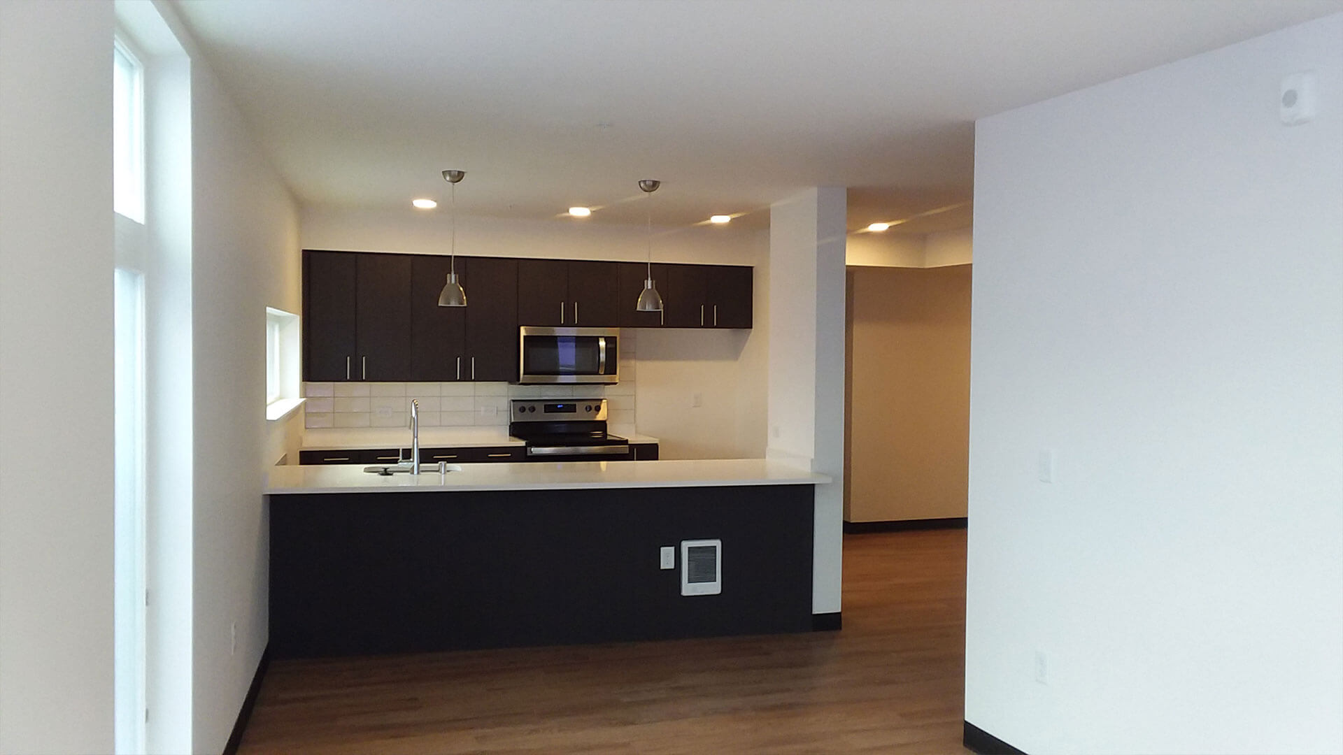The Kitchen of an Apartment at Stateside