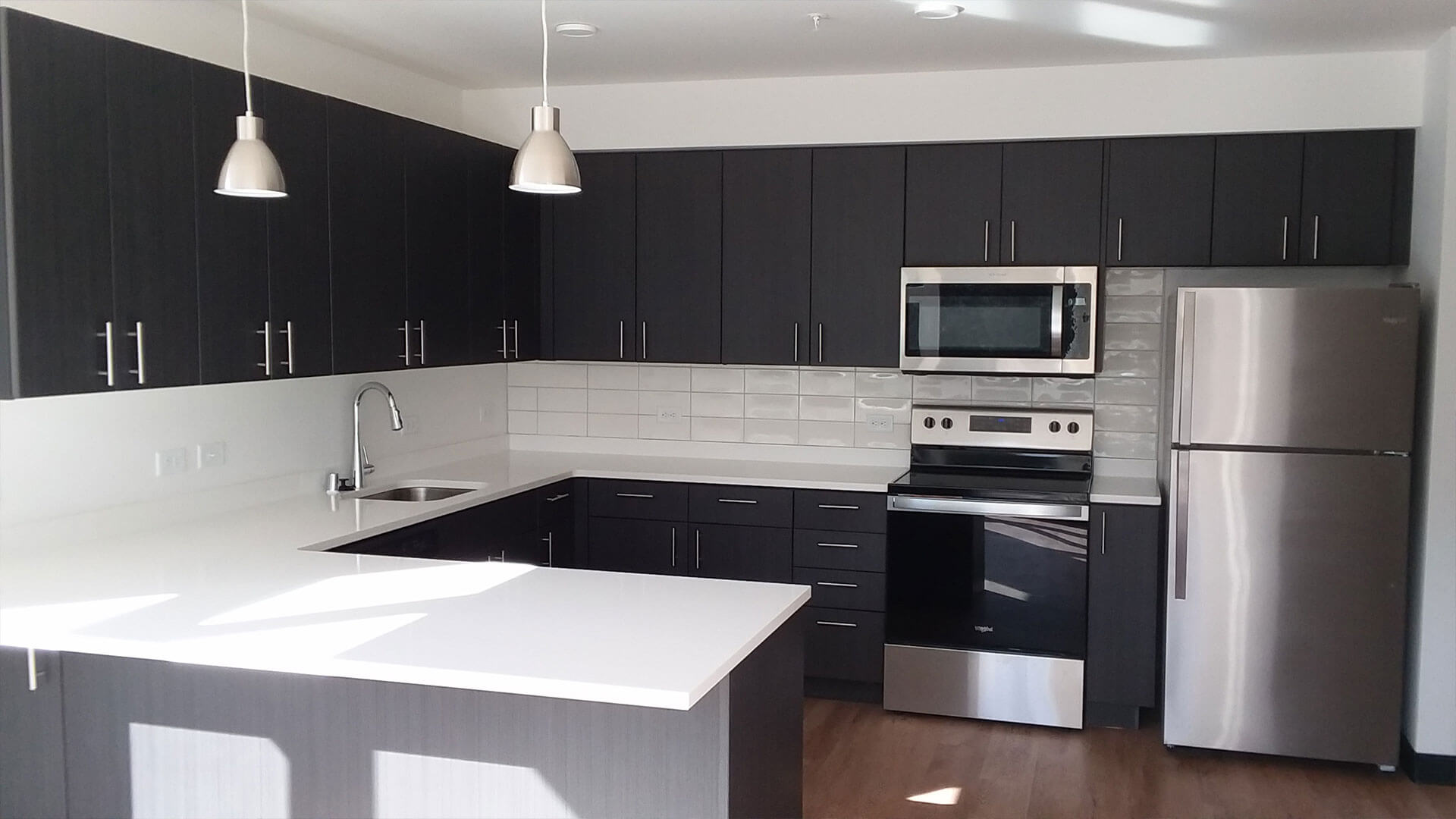 Fully Furnished Kitchen of an Apartment at Stateside