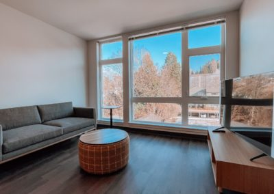 Living Room Area With a TV at a Stateside Bellingham Apartment