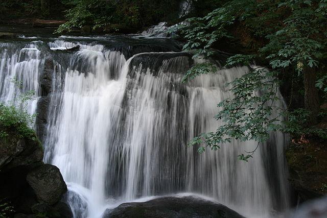 Waterfall at Whatcom Falls Park in Bellingham, WA